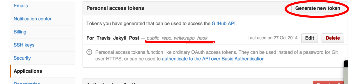 申请github token的方法